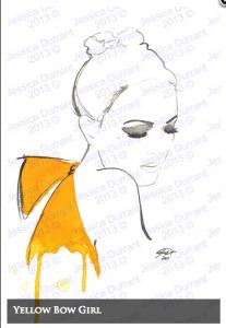 Yellow Bow Girl