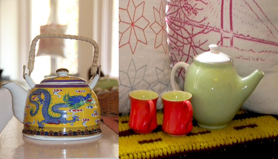 teapots artisan painted