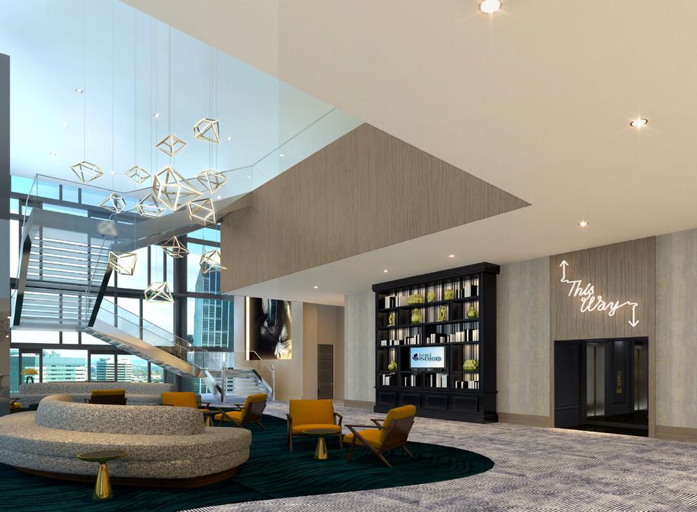 Hotel Indigo Los Angeles Downtown Lobby Design