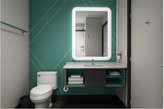 avid hotel IHG bathroom
